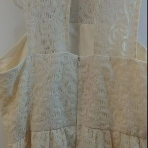 The Limited Dresses - The Limited size 14 ivory lace dress